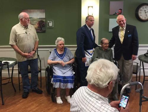 70-Year Service Award for Roy Bunch 11-6-16